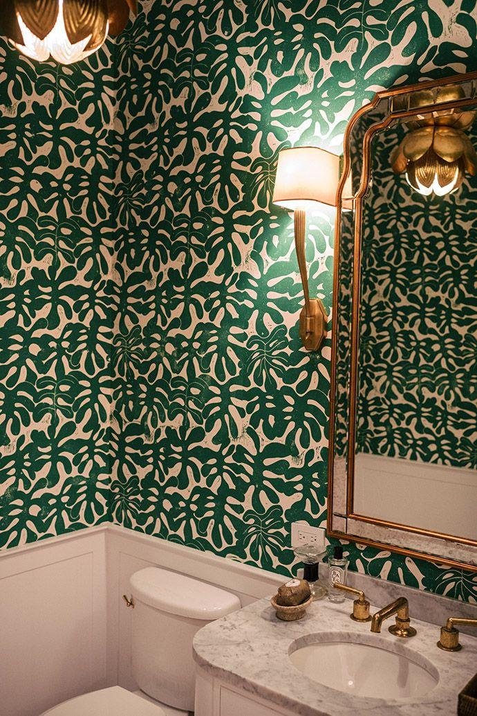 Bathroom Wallpaper | Wallpaper Ideas | Leaf Print Wallpaper Part 61
