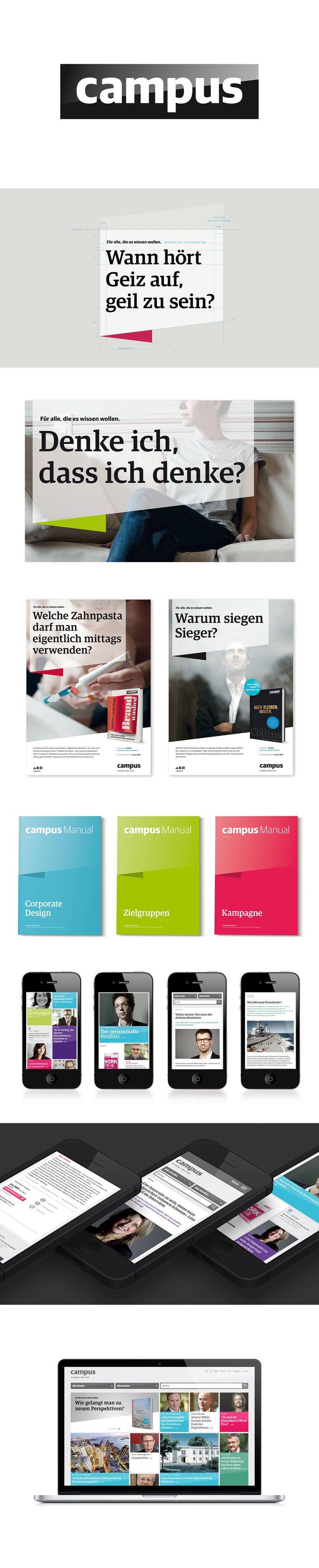 Pinned from https://pinterest.com/rothenhaeusler/best-of-corporate-design/ · Client: Campus Verlag · Agency: hauser lacour (Frankfurt) #branding #identity #corporatedesign