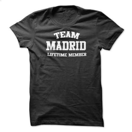 TEAM NAME MADRID LIFETIME MEMBER Personalized Name T-Sh - #animal hoodie #brown sweater. ORDER NOW => https://www.sunfrog.com/Funny/TEAM-NAME-MADRID-LIFETIME-MEMBER-Personalized-Name-T-Shirt.html?68278