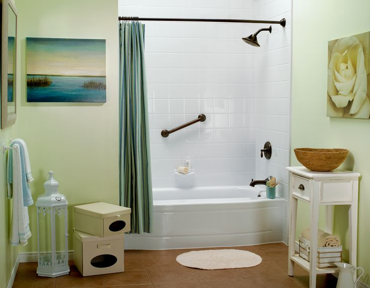 Web Photo Gallery Oil Rubbed Bronze Fixtures with Bath Fitter White