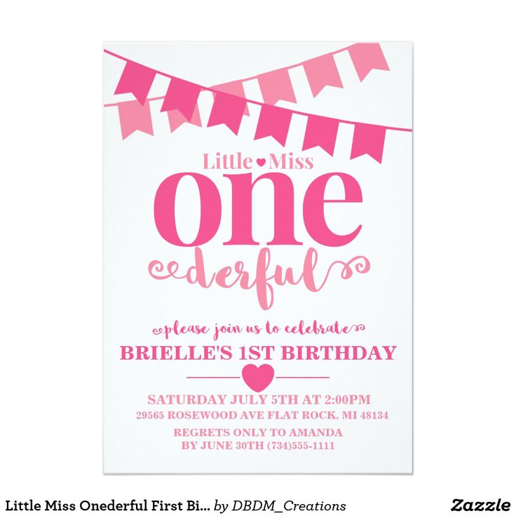 7 best Little Miss Onederful Birthday Theme images on Pinterest - best of birthday invitation text message
