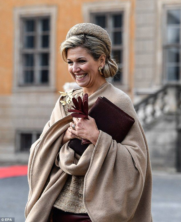 Queen Maxima was all smiles as she mingled with the crowd and took her time to see everybo...
