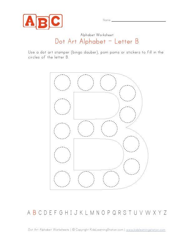 letter b dot art worksheet