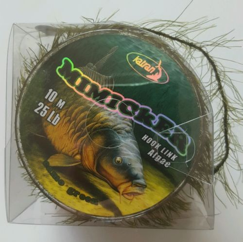 Mimicker-Hooklink-By-Katran-Weed-Algae-Affect-25lb-10m-Neutral-Weighted