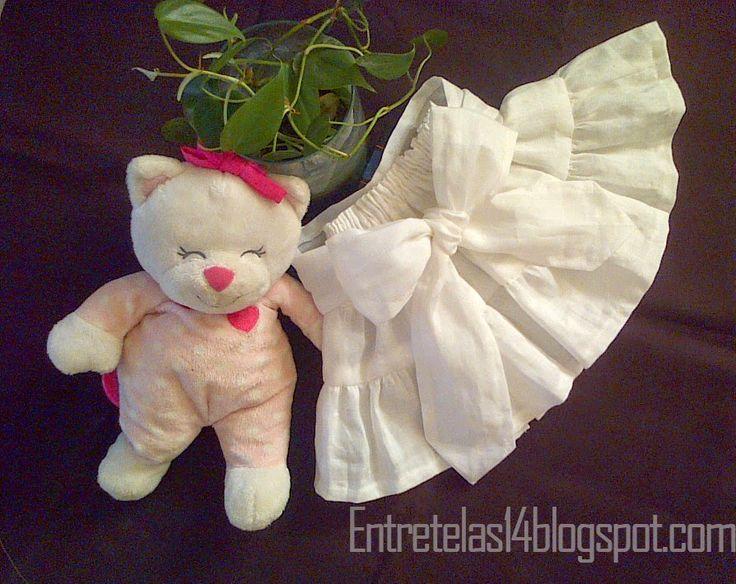 Tutorial falda de niña con patrones ~ Entretelas