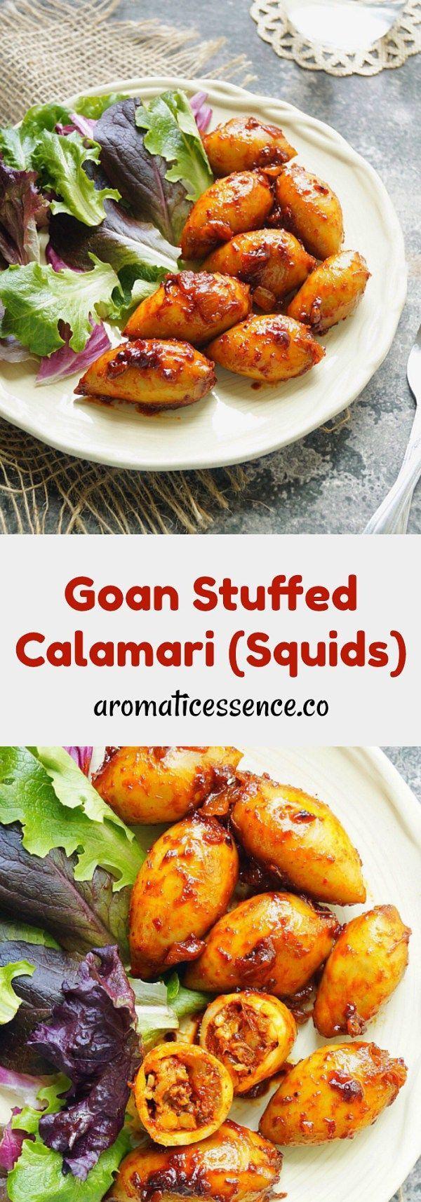 116 best goan food images on pinterest goan food drinking and goan recheado masala stuffed squids calamari goan recipesindian food forumfinder Image collections