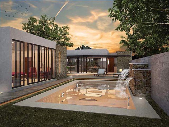 Proyecto San Antonio. Alberca, área de bar climatizado, y recámara de descanso.  #arquitectura #architecture #diseño #interiordesign #construction #constructora #luxuryhomes #pool  #residence #project #render #instalikes #instahome #instadaily - posted by LUXOR Constructora https://www.instagram.com/luxor.constructora - See more Luxury Real Estate photos from Local Realtors at https://LocalRealtors.com/stream