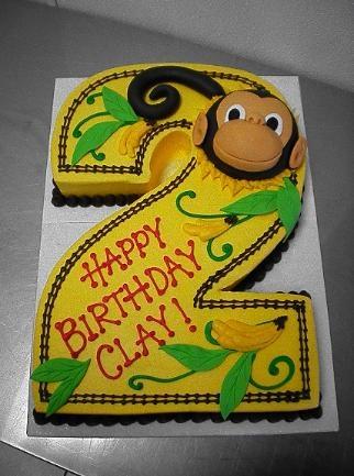 #2 Cake - Monkey Themed - Sugar Chic Cakes
