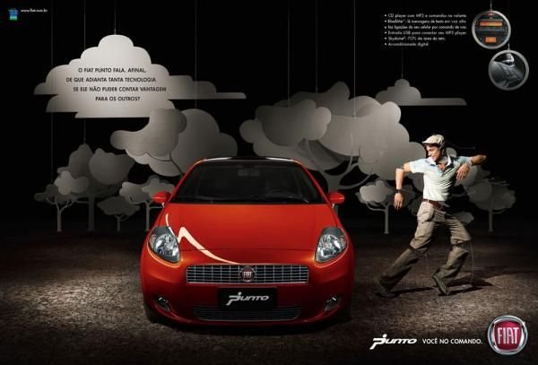 "Fiat Punto: ""Fiat Punto 4"" Print Ad  by Leo Burnett Brasil, Sao Paulo"