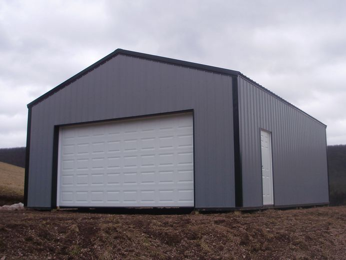 24 w x 32 l x 10 4 h id 329 total cost 8 188 for Pole barn roof pitch