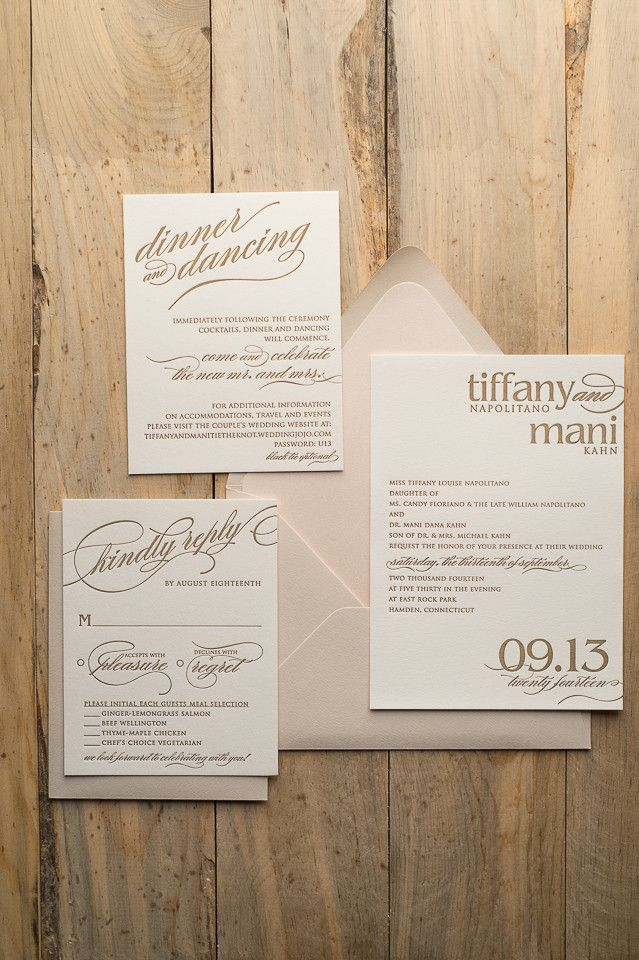 CYNTHIA Suite Romantic Package, blush, champagne, gold, spring wedding invitations, letterpress wedding invitations for formal wedding, ON SALE FOR BLACK FRIDAY!
