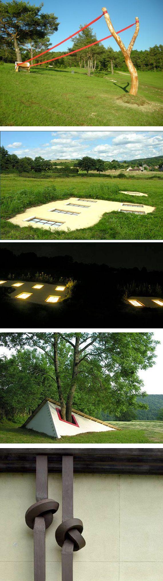Cornelia Konrads Sculptures outdoor installation art ) The top one makes me laugh