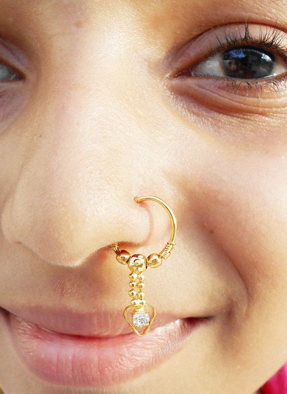 Small Gold Belly Ring