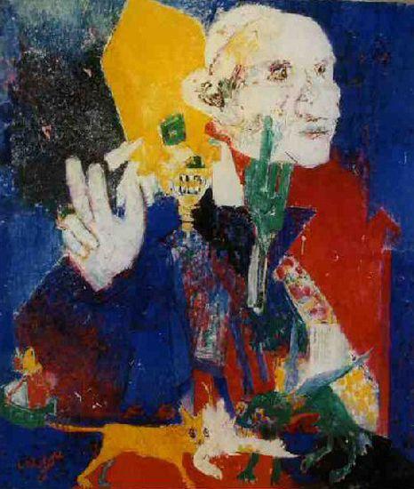 Bernard Lorjou - 1963 - La mort de Jean XXIII - 400 x 350 cm.