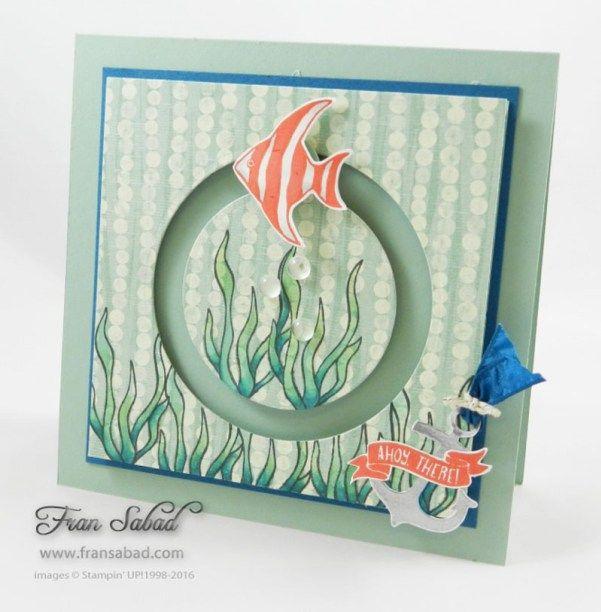 Stampin' Up! Seaside Shore 01, spinner card