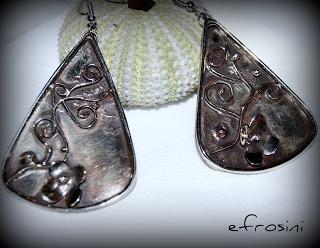 efrosini  Handmade metalwork earrings