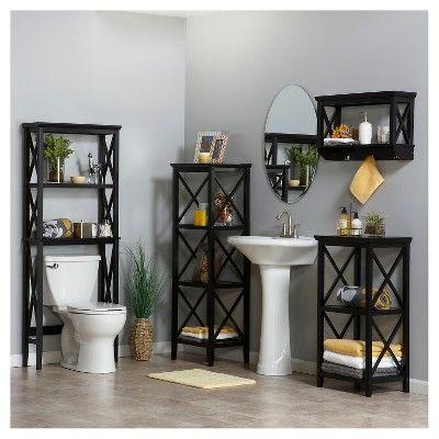 x-frame over toilet space saver Étagère espresso (brown