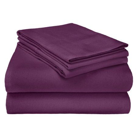 Superior Flannel Quality Cotton Paisley Sheet Set, Purple