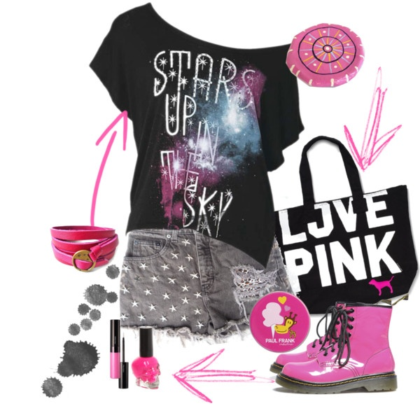 """teen pink..!!!"" by antigoni-pagali on Polyvore"