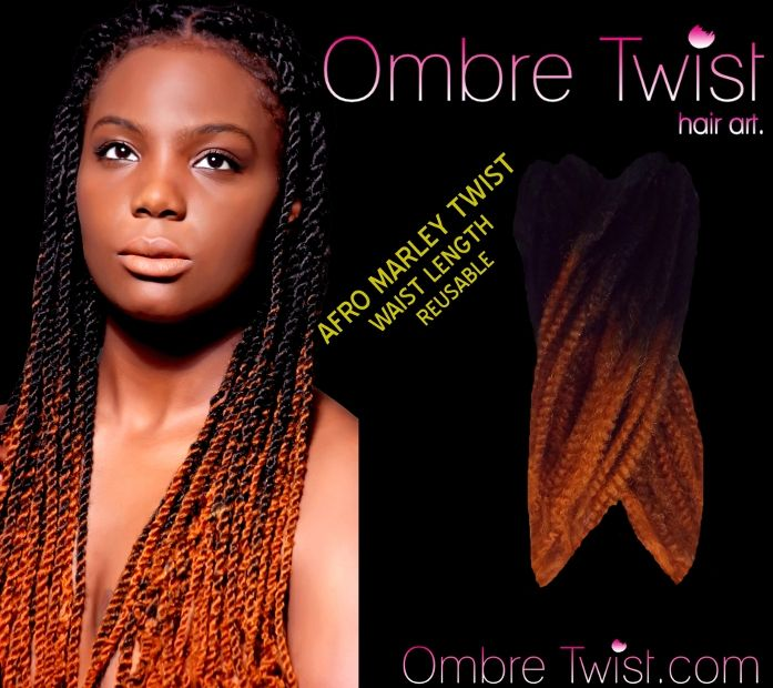 Home Ombre Afro Marley Kinky Twist Braiding Hair