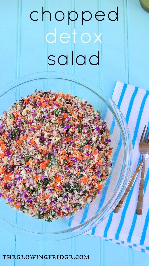 chopped detox salad