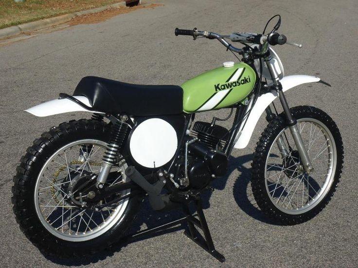 1975 Kawasaki KX125 Kawasaki motorcycle.. My first real race bike.!!!!!!!
