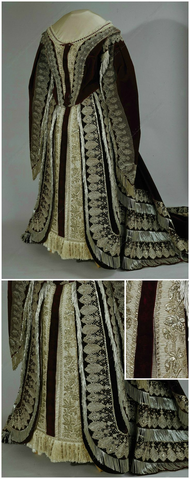 Russian court dress, by Albert Franck company, Frankfurt, Germany, 1898-1914 (?). Moscow Kremlin Museums. CLICK FOR LARGER IMAGES.