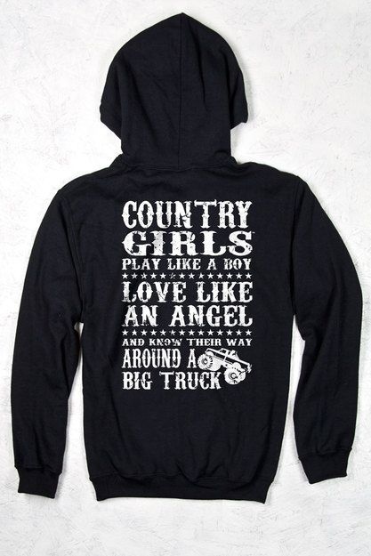 Women's Country Girl® Big Trucks Relaxed Pullover Hoodie