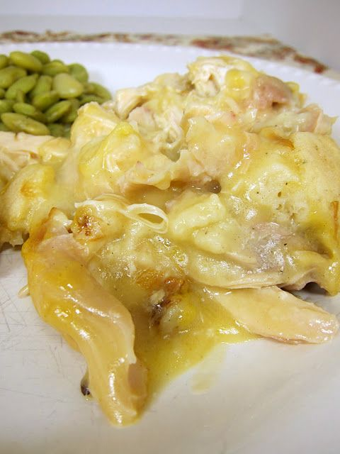 Wow!  Chicken and Dumplings Casserole!  So easy!! Dinner tonight!