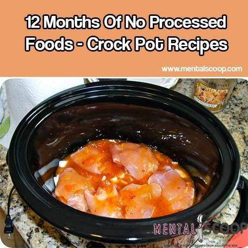 12 Months Of No Processed Foods - Crock Pot Recipes ~~ also includes a list of what recipes were flops