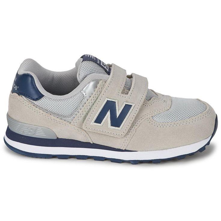 New Balance 574 Kid's Grey Navy Kv574