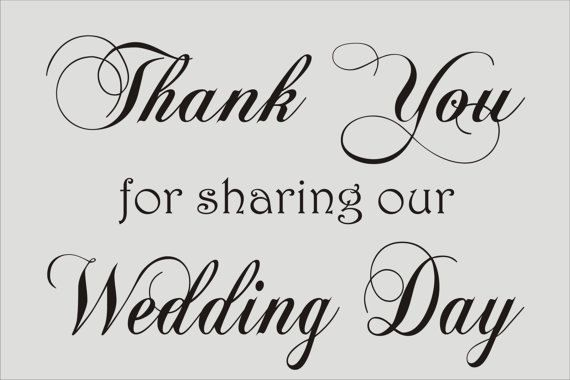 create wedding signs stencil thank you for by superiorstencils 1 1 1 pinterest diy and crafts wedding day and wedding signs