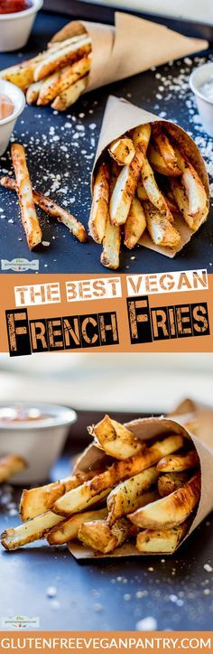 The best vegan French Fries! 30 minutes, one bowl and the best fries of your life! | glutenfreeveganpantry.com