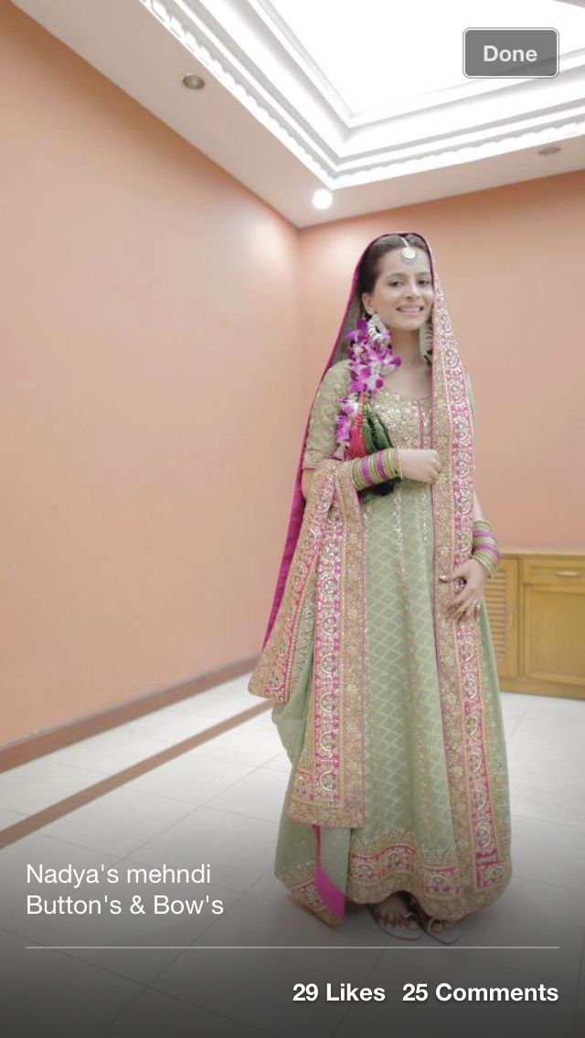 Mint Green Pakistani bride