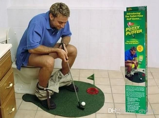 Potty Putter Toilet Golf Game Ball Mini Golf Set Toy Toilet Golf Putting Green L524 From Dhgatc, $12.59 | Dhgate.Com