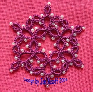 Tat-a-Renda: Rings only Snowflake with Beads