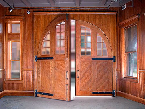 Restored doors Aurora IL Central Station now a museum of firefighting. & 158 best Old firehouses images on Pinterest | Fire department ... Pezcame.Com