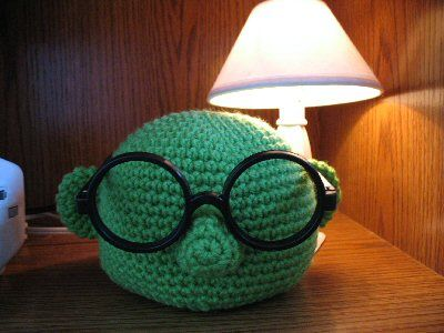 Muppet Bunsen Crochet Glasses Holder Free Pattern