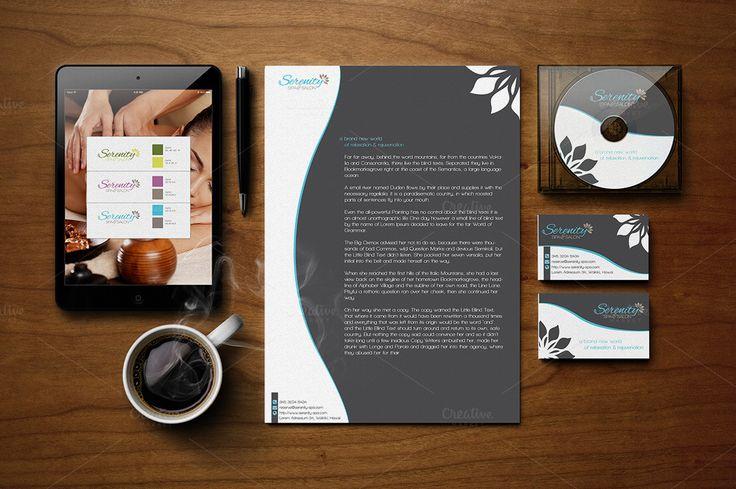 Serenity Spa - Logo & Branding Kit by Spyros Thalassinos on Creative Market