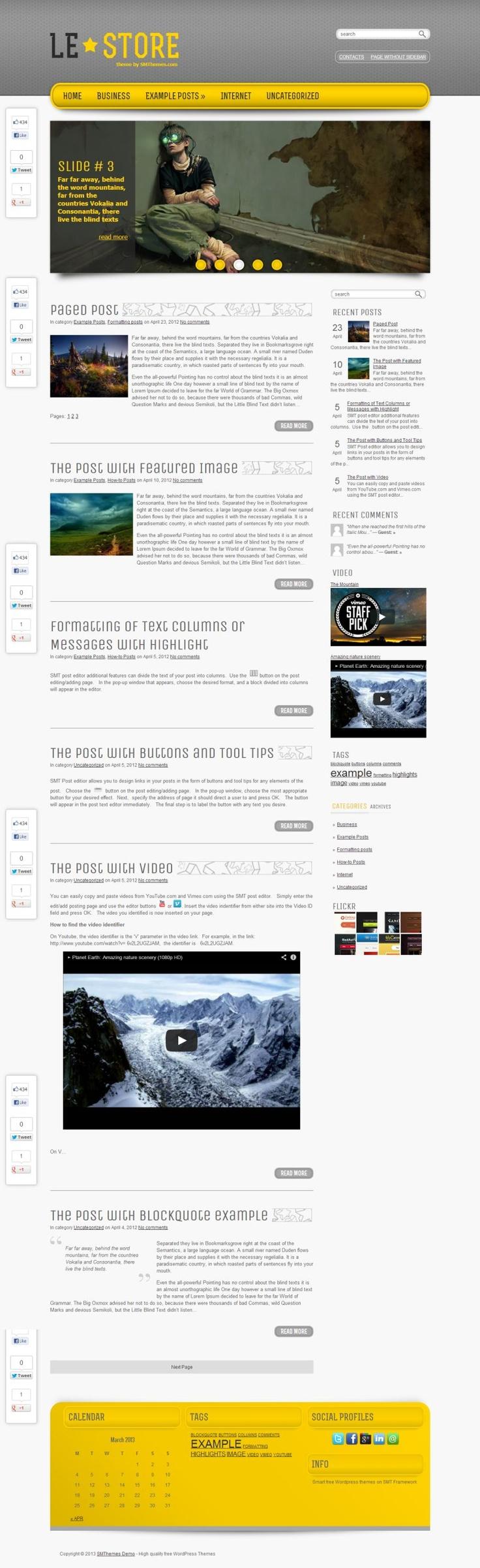 """LeStore"" - #free , stylish &  clean Hi-Tech theme for #WordPress #blog."