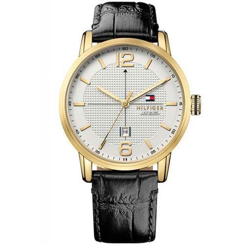 Relógio Tommy Hilfiger Masculino Couro Preto - 1791218