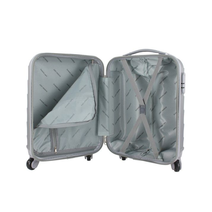 Valise cabine rigide 50 cm Gris | Rayon d'or bagages