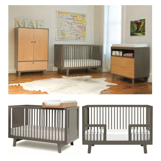 High End Non Toxic Oeuf Brand Crib + Toddler Conversion Kit + Matching  Dresser/changing Station + Moonlight Slumber Dual Firmness Natural/organic  M.