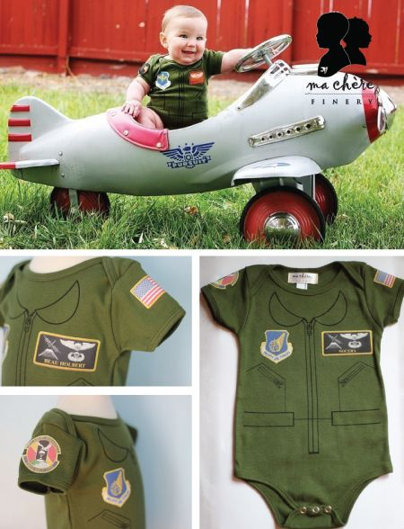 flight suit onsies - I would love to buy one, but they are expensive!