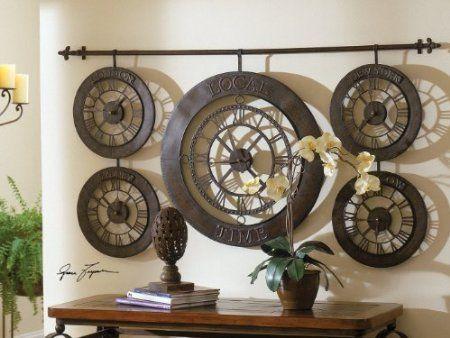 Clock Wall Art 13 best wall clocks images on pinterest | roman numerals, iron