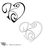 I would like this w/ 3 hearts connected each w/ my kids 1st initials or maybe my departed family memeber's 1st initial. Together in a cluster on the back of my calf or shoulderblade.
