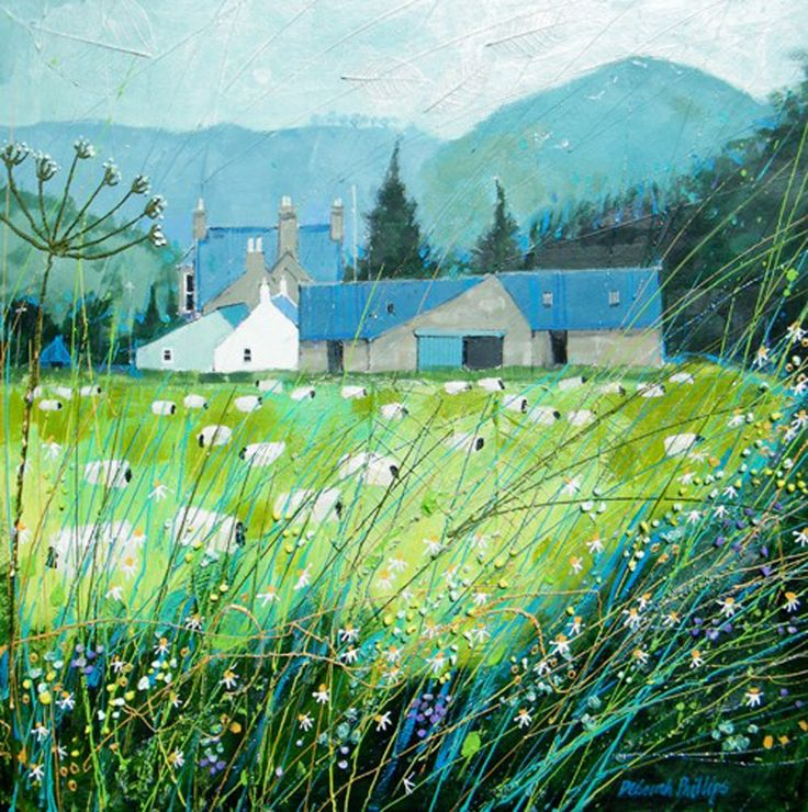 Good Grazing nr Ballater by the contemporary artist Deborah Phillips