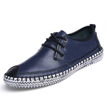 Big Size Männer Stitching Toe Schutz flachen Lazy Schuhe Slip On Casual Loafers - NewChic Mobile.