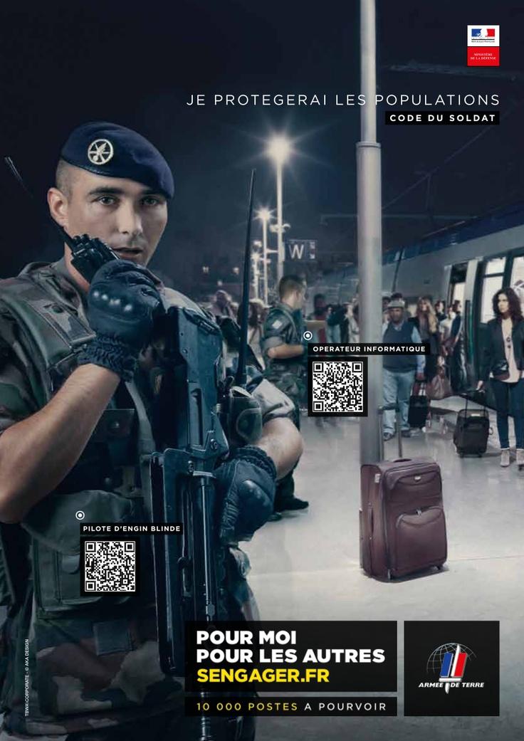 Visuel officiel de la campagne de #recrutement 2013-2015 de l'armée de Terre #sengager #armeedeterre