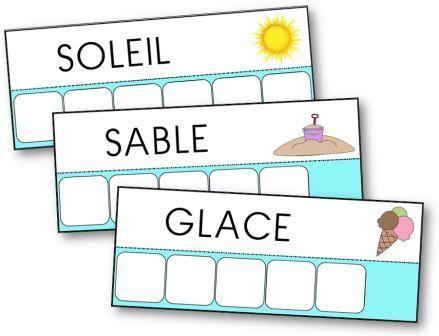 Voici l'atelier des mots de l'été. 35 mots à reconstituer. Fiches à télécharger et à imprimer pour apprendre à écrire des mots comme barbecue. mots été